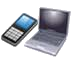 picture of a mobile phone and laptop, inviting you to contact me via the details on this page